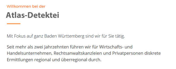 Privat- und Wirtschaftsdetektei für 72585 Riederich, Bempflingen, Metzingen, Grafenberg, Großbettlingen, Kohlberg, Altenriet und Altdorf, Neckartenzlingen, Pliezhausen
